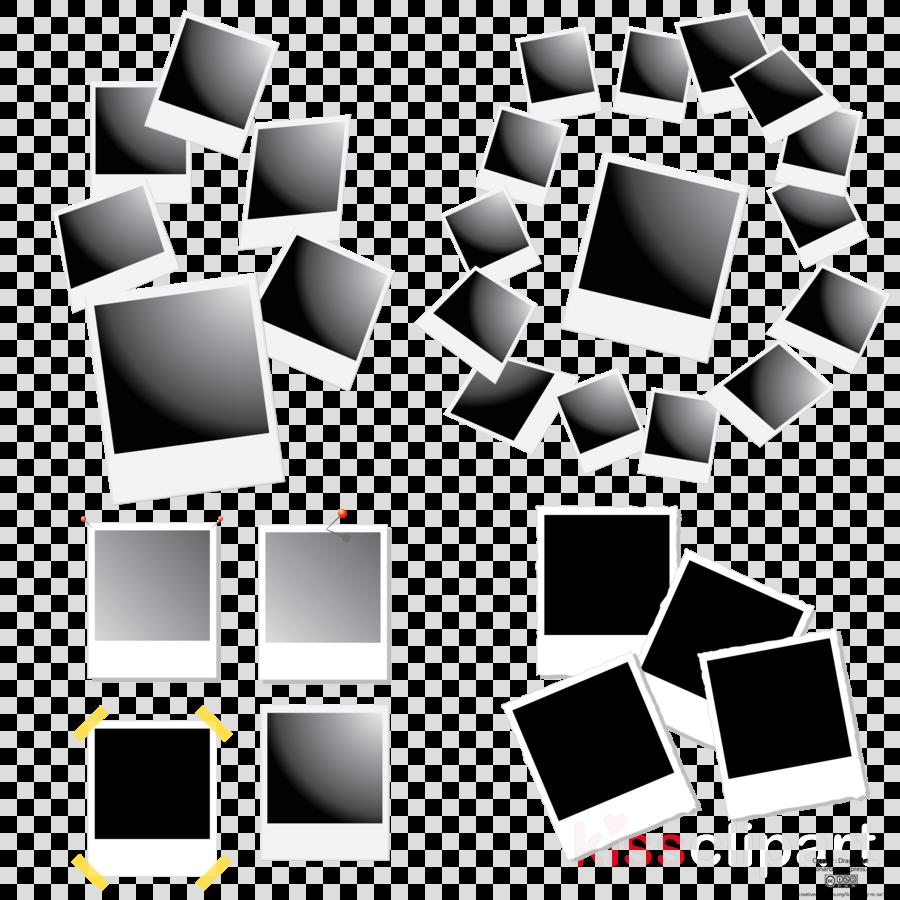 polaroid vector clipart Instant camera