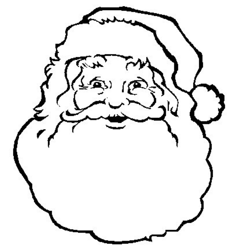 download santa face colouring page clipart santa claus colouring pages coloring book