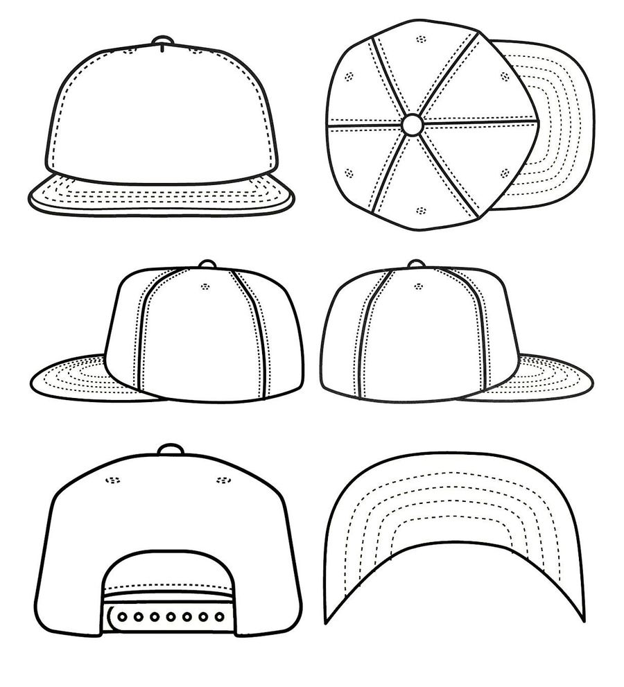 hat cap clothing white line font design drawing product