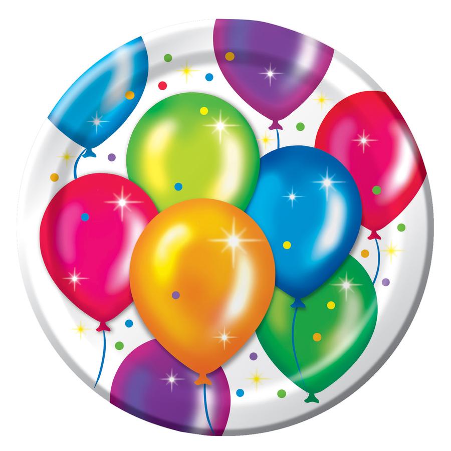Birthday Balloon Dessert Plates Clipart Send Them Balloons