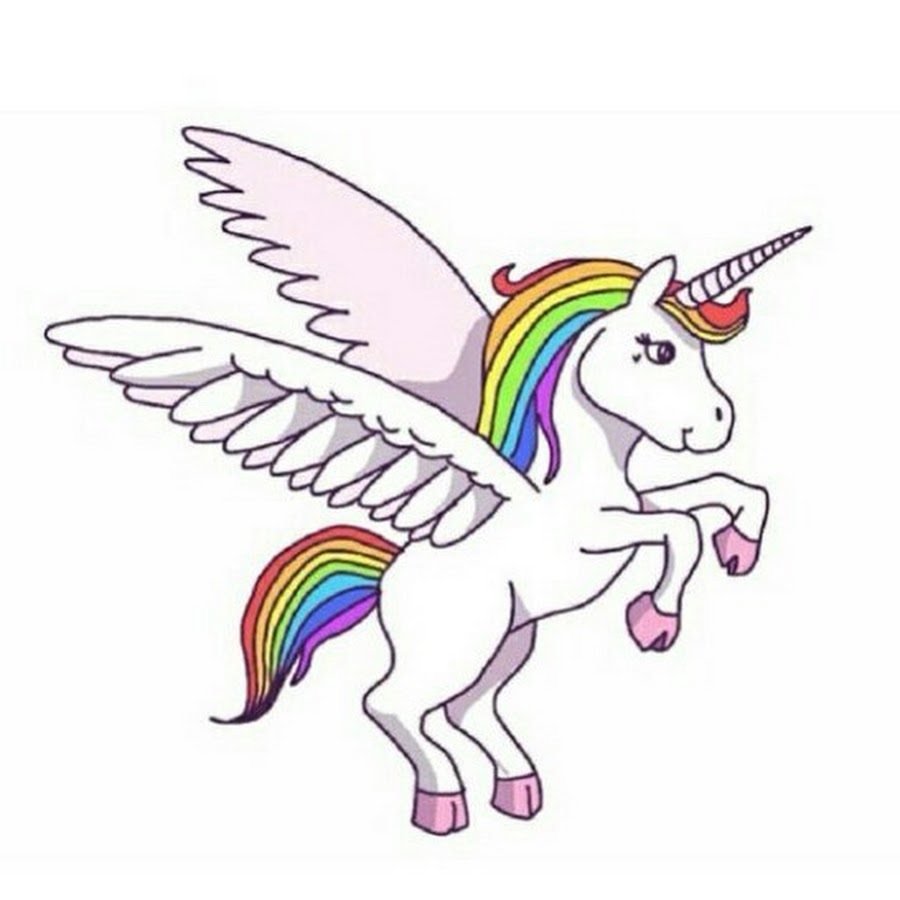 Download Rainbow Unicorn With Wings Clipart Horse Winged Drawing