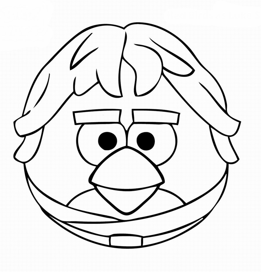 Angry Birds Star Wars Luke Skywalker Coloring Page Clipart Yoda