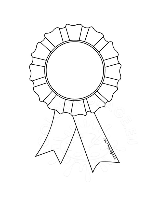 picture relating to Ribbon Template Printable identify Obtain rosette template printable clipart Ribbon Rosette