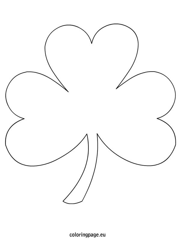 image relating to Four Leaf Clover Printable Template named Clipart solution 595*804 - shamrock free of charge printable clipart