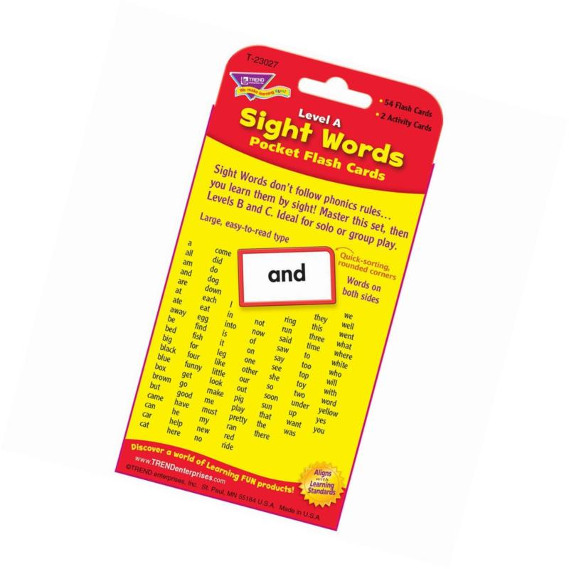 TREND ENTERPRISES INC POCKET FLASH CARDS SIGHT WORDS B