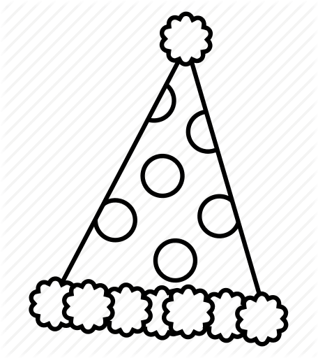 Balloon Black And White Clipart Birthday Hat Cap Transparent Clip Art