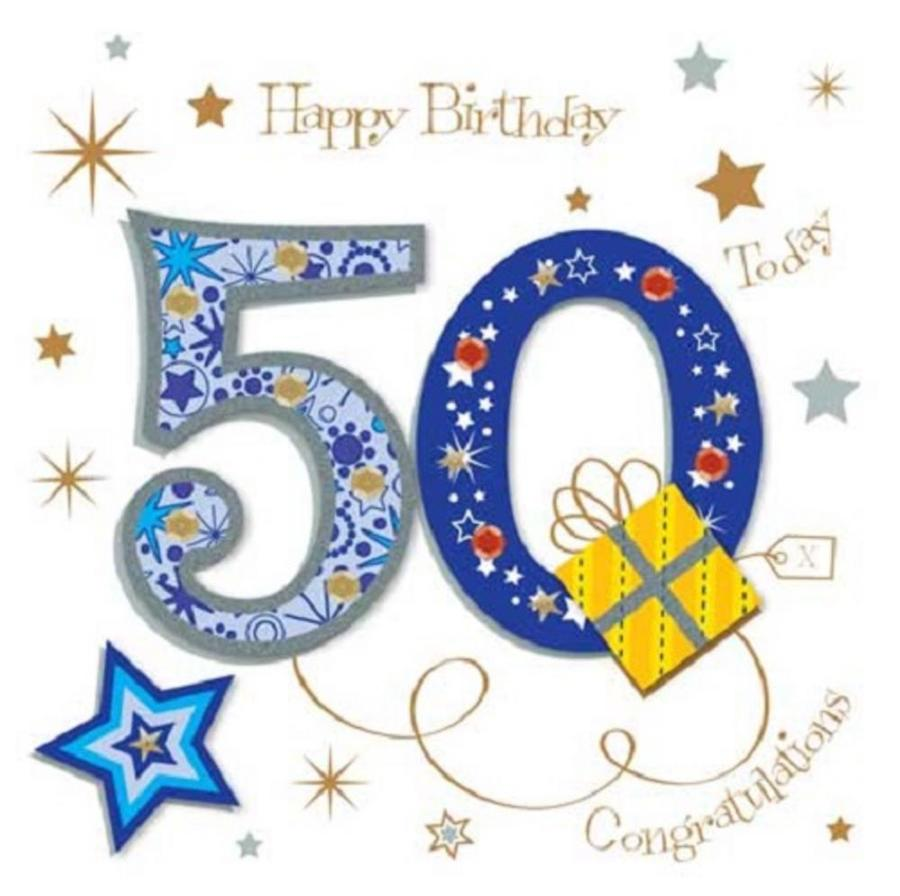 Download 50th Birthday Greetings For Brother Clipart Happy 50th