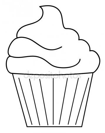 Clipart resolution 357*450 - cupcakes para colorear clipart Cupcake ...