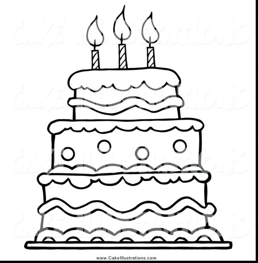 Cupcake Birthday Cake Illustration Party Food White Black