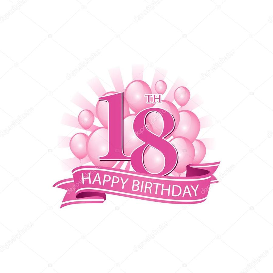 Download 18th Birthday Logo Clipart Birthday Greeting Note Cards