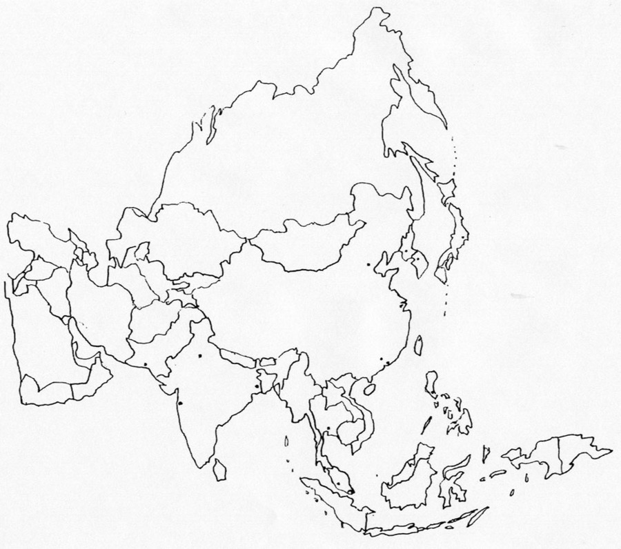 Download blank map of asia clipart Blank map East Asia | Map ...