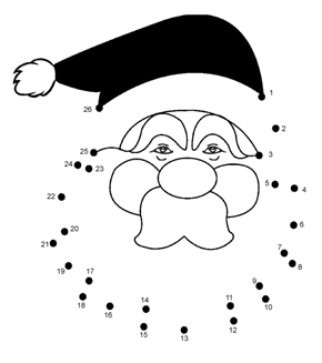 dot to dot for kids christmas clipart santa claus christmas day connect the dots
