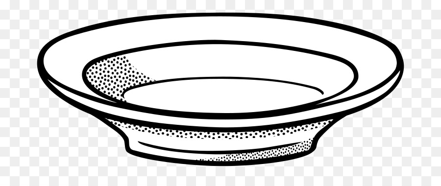 Kitchen Cartoon Clipart Plate Fork Line Transparent Clip Art
