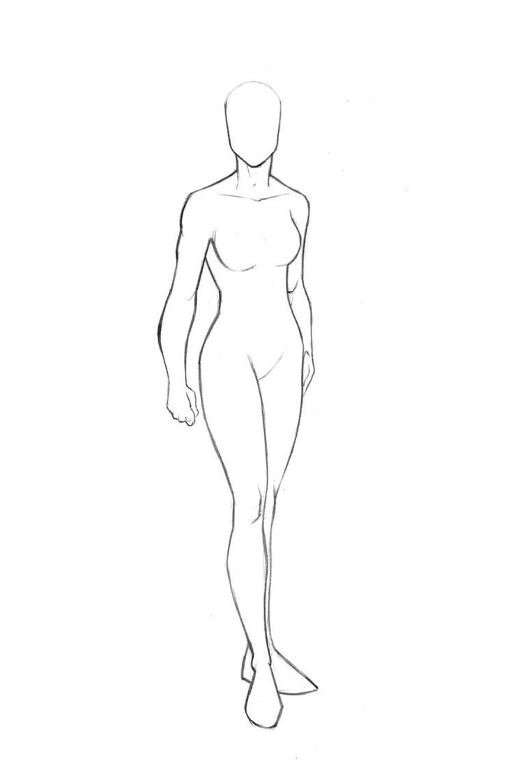 download female costume design template clipart drawing sketch