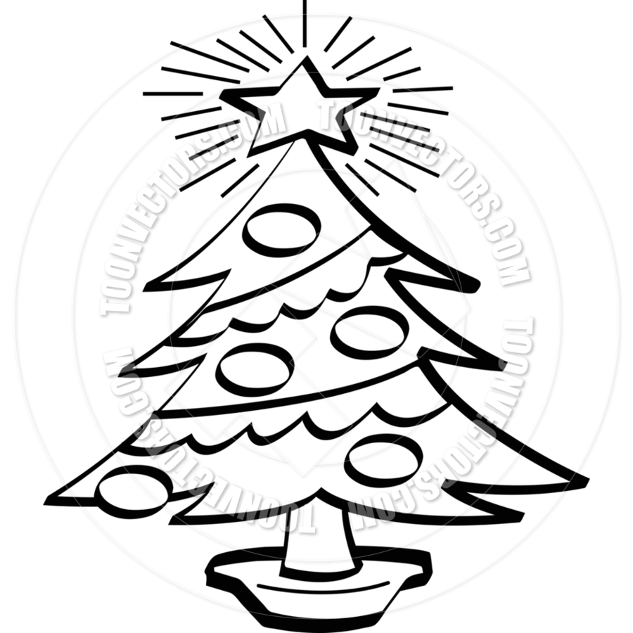 christmas tree black and white - Christmas Tree Clipart Black And White