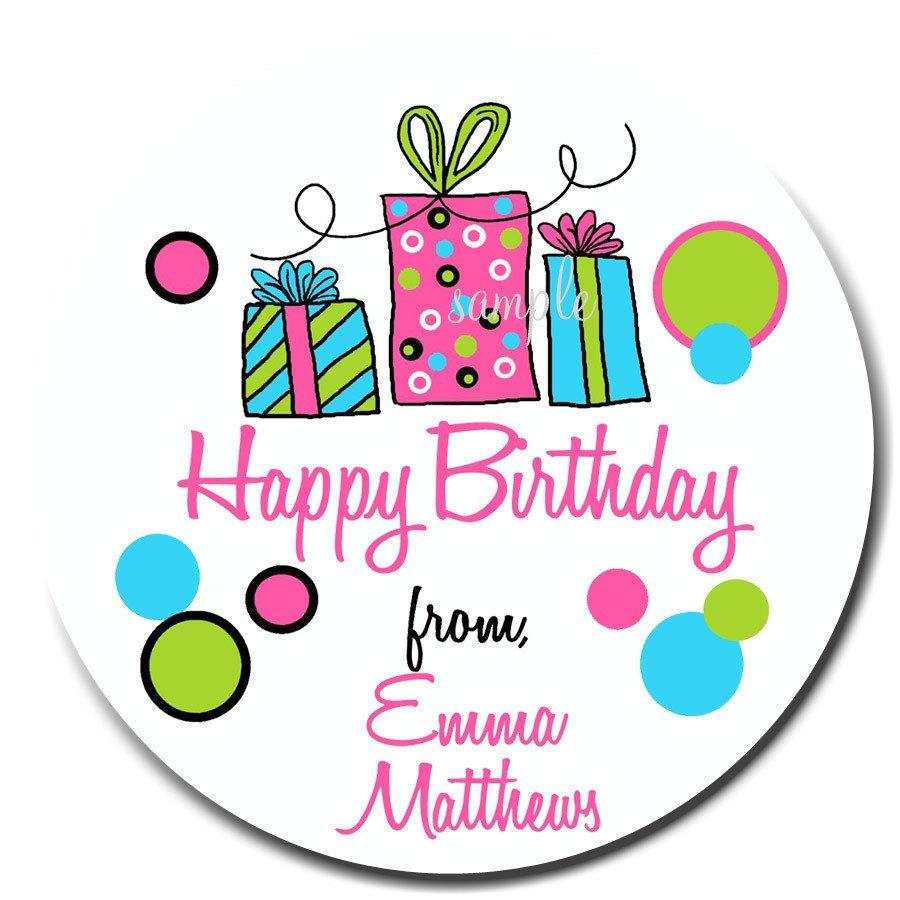 Birthday Gift Sticker Clipart Clip Art