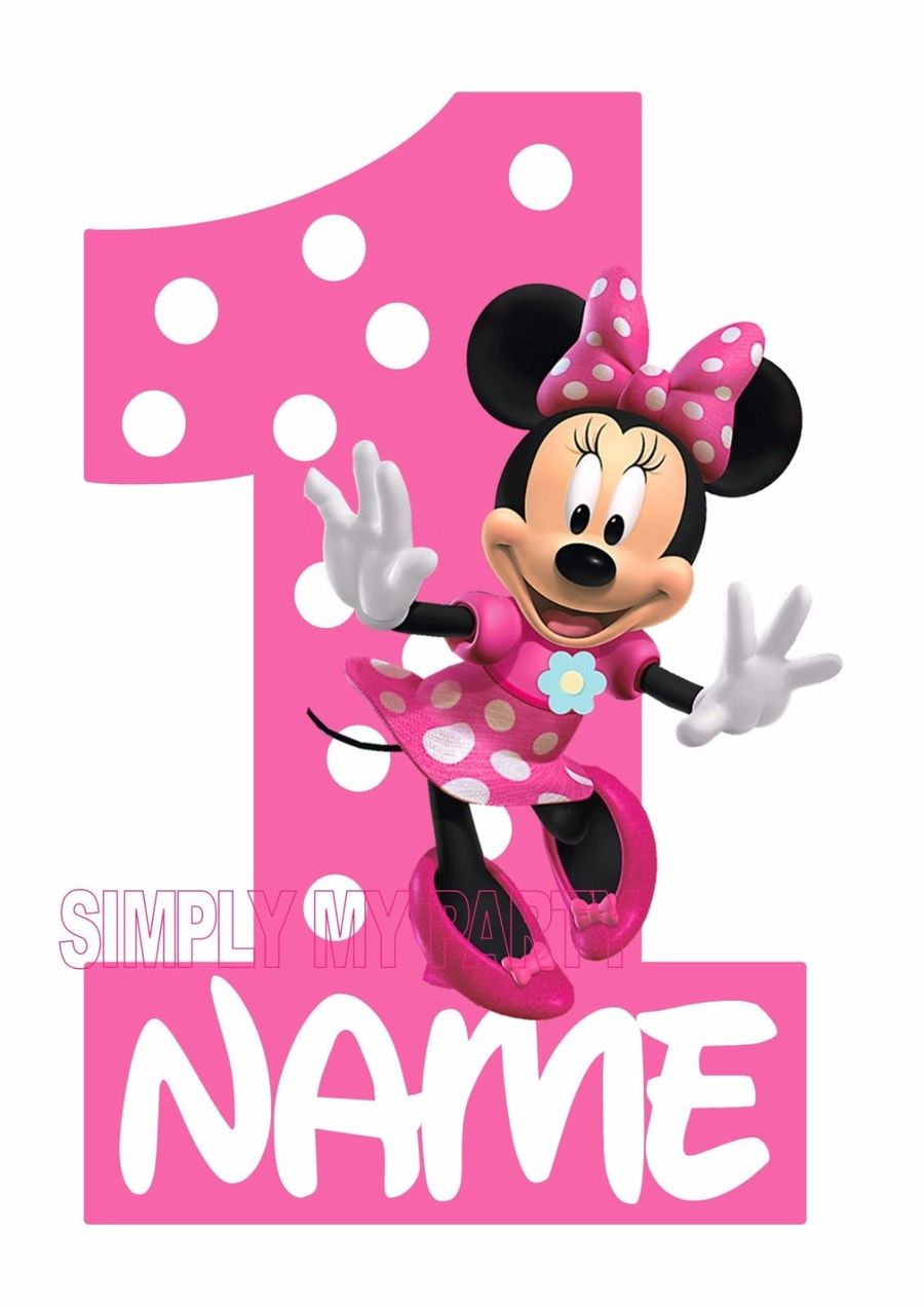 Minnie Mouse Birthday Clipart Mickey T Shirt