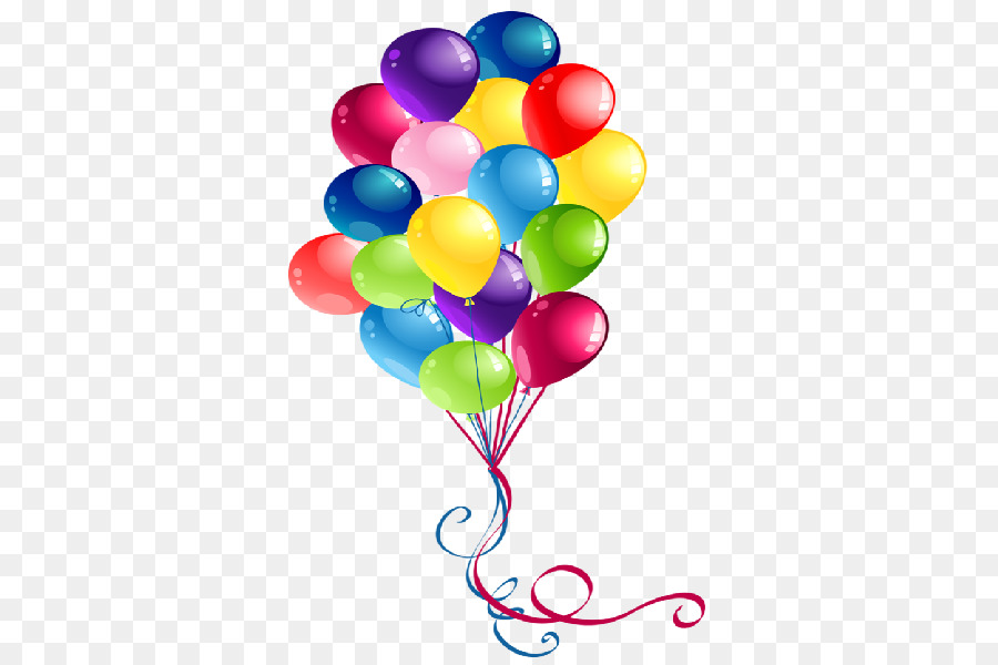 Balloon party. Birthday cartoon clipart