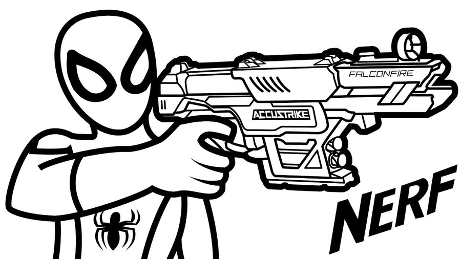 Nerf Gun Coloring Pages Clipart Colouring Book Blaster