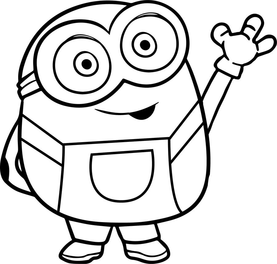 Download minions coloring book clipart Bob the Minion Coloring book ...