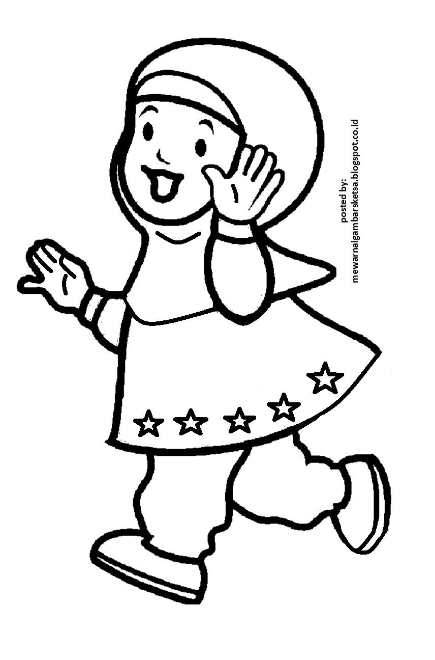 Clipart Resolution 856 1296 Mewarnai Gambar Anak Sekolah Tk