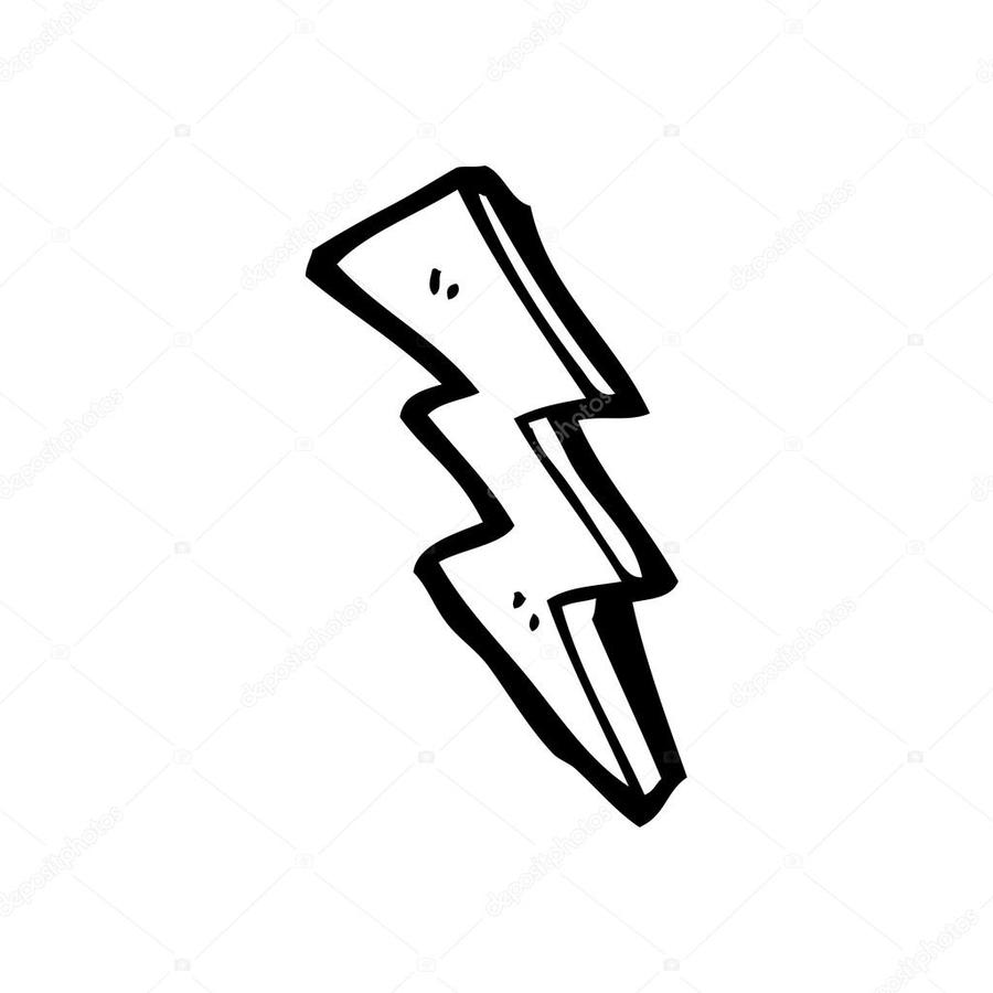 Lightning Bolt Drawing Clipart Black And White Cloud