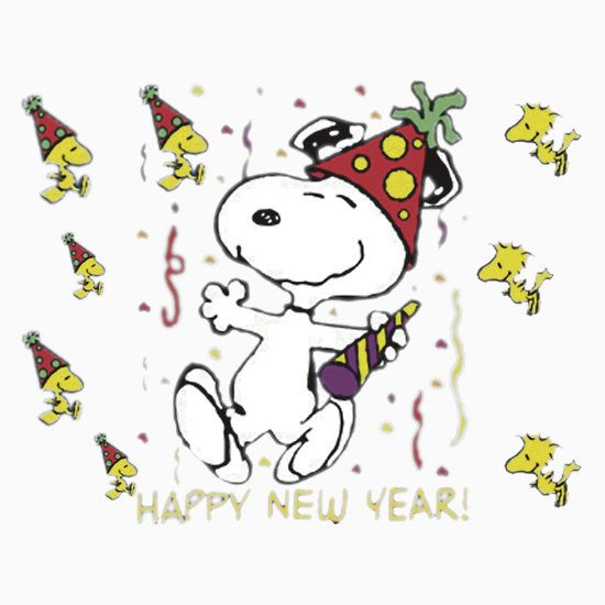 happy new year 2018 snoopy clipart snoopy charlie brown woodstock