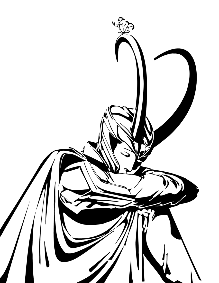 Thor Drawing White Transparent Png Image Clipart Free Download