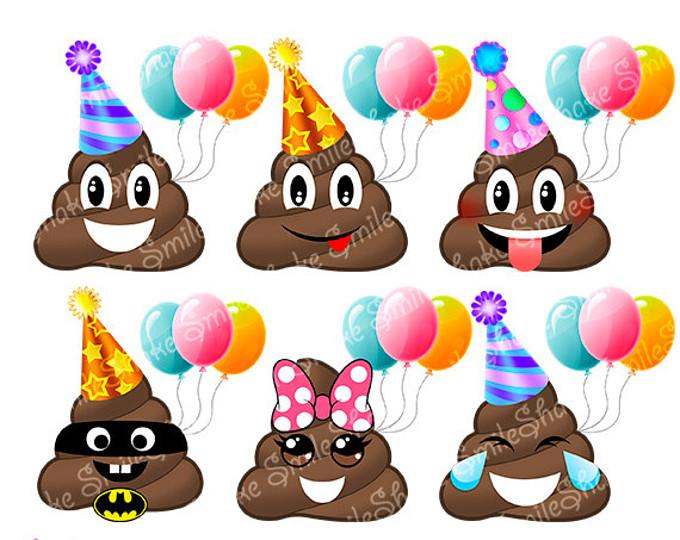 Download Happy Birthday Poop Emoji Clipart Pile Of Poo Clip Art Smiley