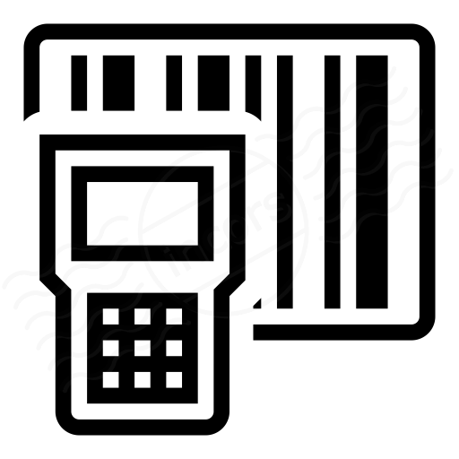 Barcode icon. Text technology transparent png
