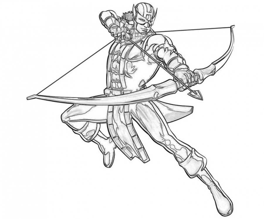 Download avengers coloring pages hawkeye clipart Clint Barton Black ...
