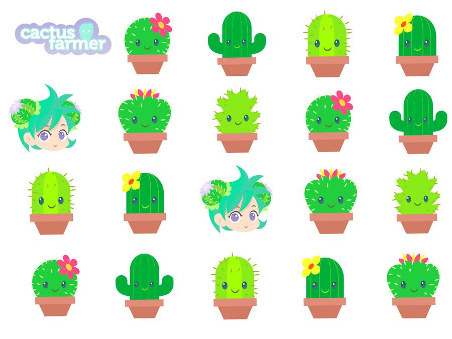Cute Cactus Clipart Desktop Wallpaper Clip Art