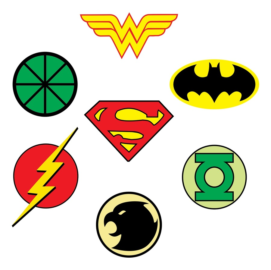 batman superman superhero yellow line graphics font sign