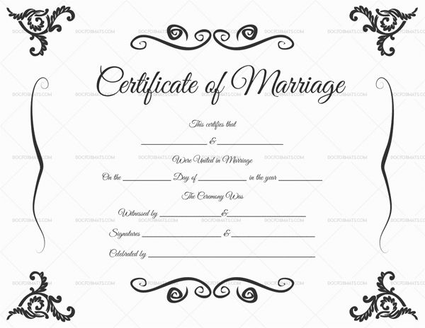 download fake marriage certificates templates clipart marriage