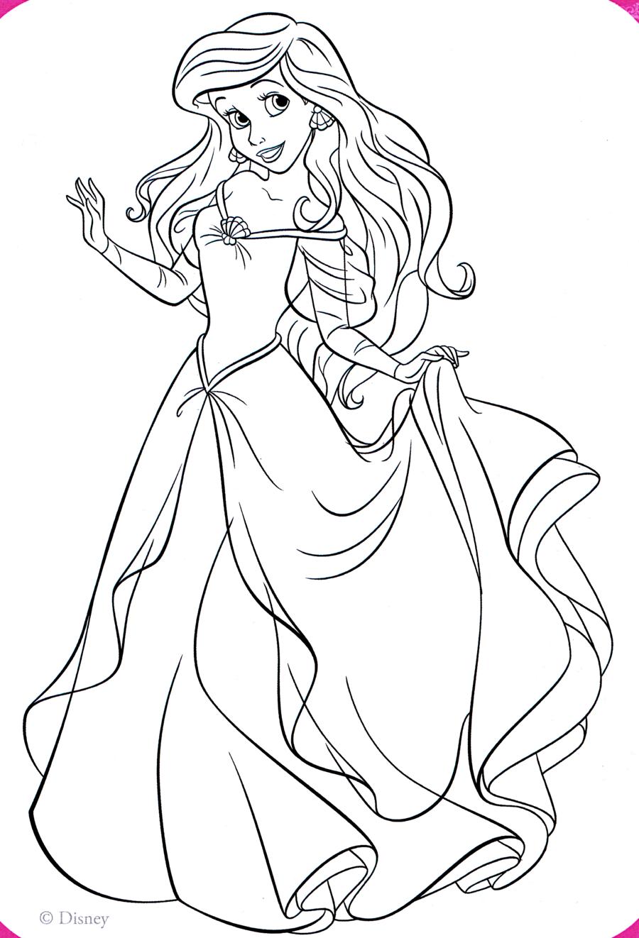 Download ariel dress coloring pages disney princess clipart Ariel ...