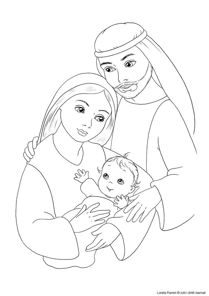 Download Holy Family Coloring Pages Clipart Coloring Book