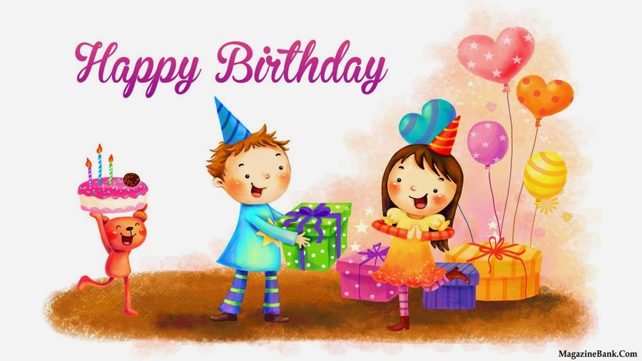 birthday gift cartoon text art illustration child graphics