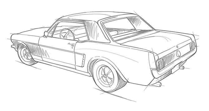 Clipart Resolution 670 356 Line Art Clipart Compact Car Sketch