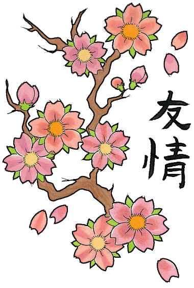 Cherry Blossom Tree Drawing clipart , Tattoo, Design, Sketch