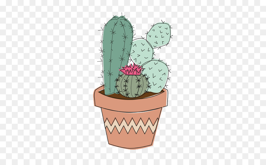 Cactus drawing. Painting cartoon clipart plant