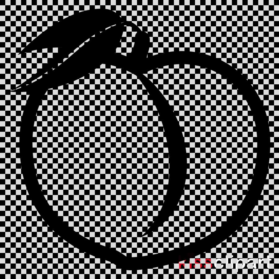 peach emoji black and white clipart Peach Clip art