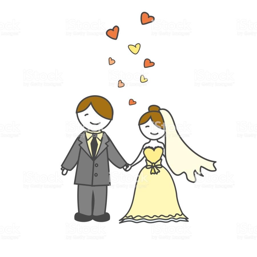 Wedding Marriage Bride Illustration Man Cartoon Yellow Text