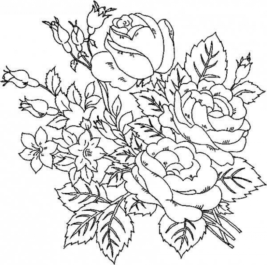 Download Coloring Pages Of Beautiful Flowers Clipart Coloring Book