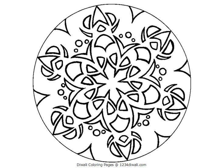 Download coloring page for rangoli clipart Colouring Pages Rangoli ...