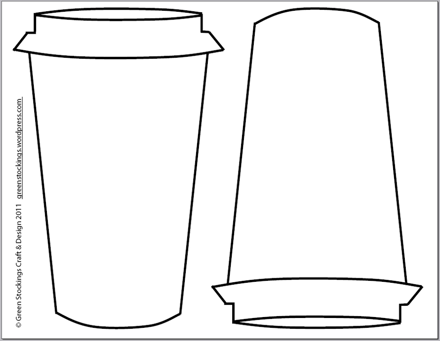 Cup Cozy Template Clipart Cafe Coffee Sleeve