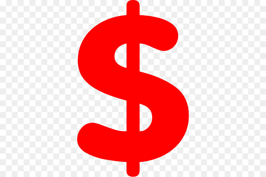 Dollar sign red. Clipart money line transparent
