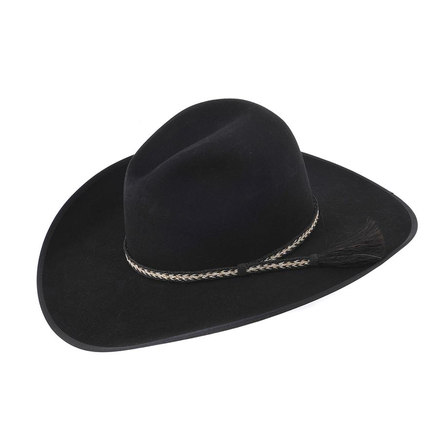 Stetson 30x El Patron Black Felt Cowboy Hat 1862f7db2081