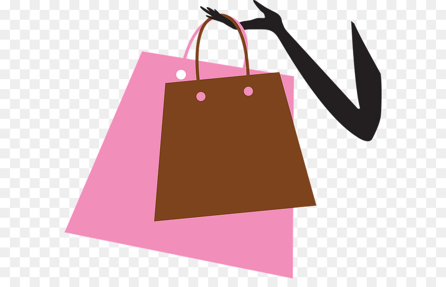 Shopping Cartoon Clipart Shopping Bag Pink Transparent Clip Art