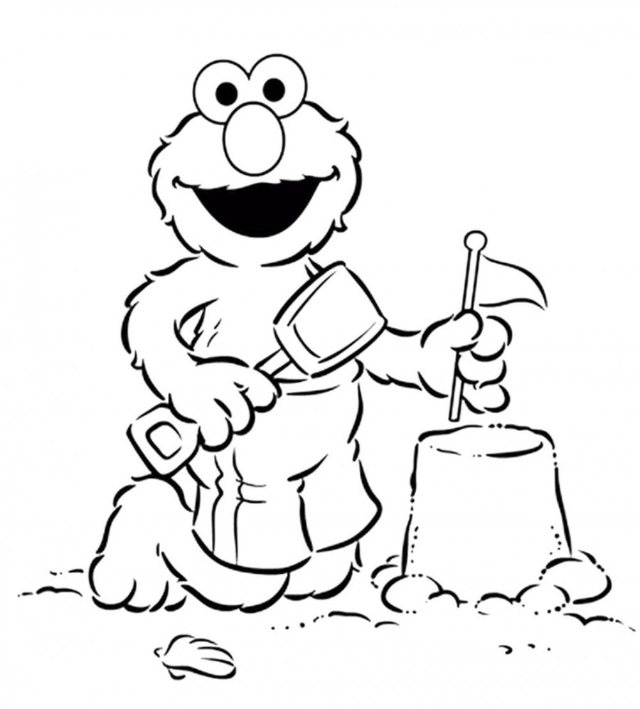Download sesame street coloring pages clipart Elmo Coloring book ...