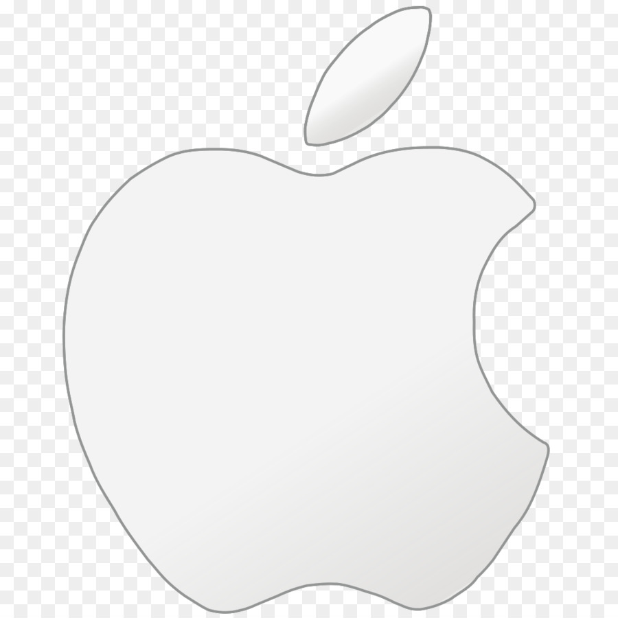 Apple, White, Line, transparent png image & clipart free download